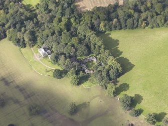 Oblique aerial view of Chesters House, taken from the E.