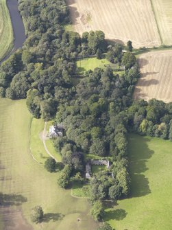 Oblique aerial view of Chesters House, taken from the ENE.