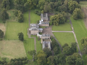 Oblique aerial view of Arniston House, looking to the WNW. .
