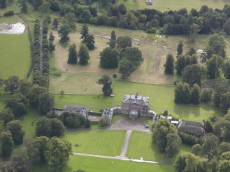 Oblique aerial view of Arniston House, looking to the SSE.