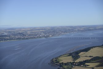 General oblique aerial view of the River Tay centred on the Tay Bridge, taken from the SW.