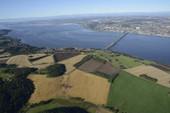 General oblique aerial view of the River Tay centred on the Tay Bridge, taken from the SE.