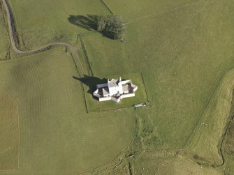 Oblique aerial view of Corgaff Castle, taken from the SSW.