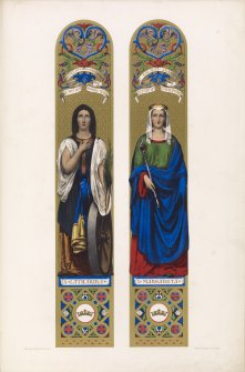 Plate XII St Margaret and St Catherine