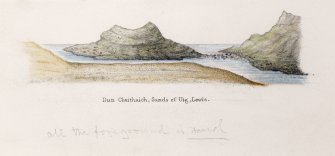 Sketch view of Dun Borranish.