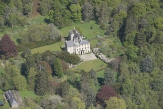 Oblique aerial view of Kemnay House, looking to the NE.
