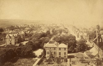 Historic photograph of The Priory House. View from the east from St Regulus' Tower.
