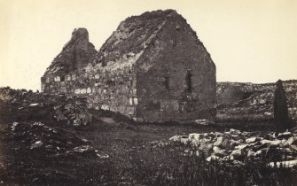 View of Eilean Mor ruined Chapel, known as St Cormac's Chapel, Eilean Mor. Titled: '82. Ealan Mor Chapel. near mouth of Loch Xoyn.' PHOTOGRAPH ALBUM NO 186: J B MACKENZIE ALBUMS vol.1