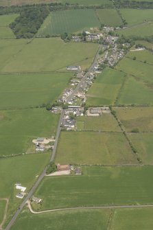 Oblique aerial view of St Molio's Church, looking to the N.