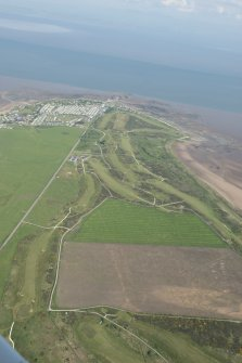 Oblique aerial view of Southerness Golf Course, looking to the E.