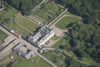 Oblique aerial view of Sandside House, looking to the ESE.