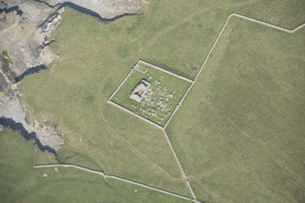 Oblique aerial view of St Mary's Chapel, looking to the NE.