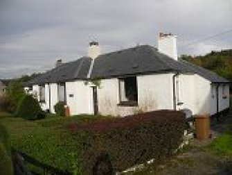 2 semi detached cottages from east Laphroaig at far, west end