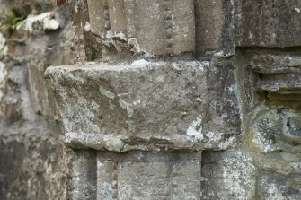 Detail of east capital of main abbey doorway.