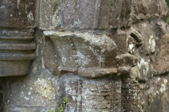 Detail of west capital of main abbey doorway.