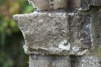 Detail of east face of capital to west side of main abbey doorway