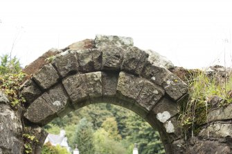 Detail of internal arch above main doorway of abbey church.
