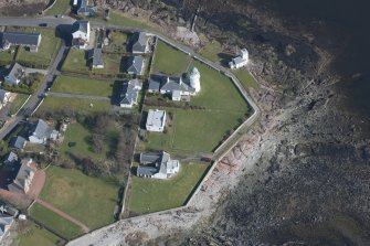 Oblique aerial view of Toward Point lighthouse, looking to the ENE.