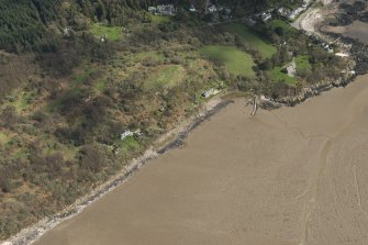 Oblique aerial view of Rockcliffe, looking E.