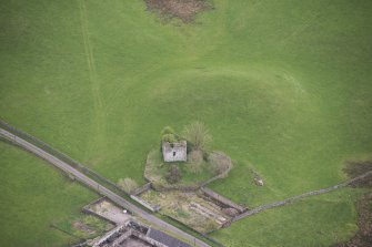 Oblique aerial view of Lag Tower, looking ESE.