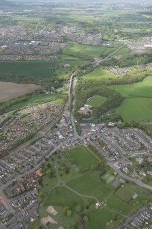 Oblique aerial view of Bonnyrigg, Lasswade and Newbattle Viaduct, looking WNW.