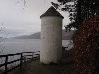 Fort Augustus Lighthouse Rear View looking NE across Loch Ness