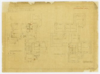 Alterations for Mr Spurway. Plans showing alterations.
