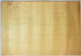 Holy Island, Lindisfarne, Heugh Hill, surveyed by D E Hood and the Surveying Department of King's Collge , Newcastle