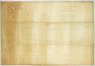 Annotated - Holy Island, Lindisfarne, Heugh Hill, surveyed by D E Hood and the Surveying Department of King's College , Newcastle