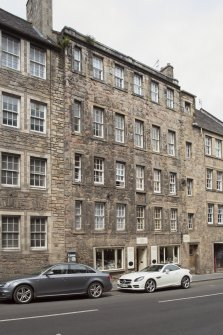 General view of Shoemakers' Land, 195-197 Canongate, Edinburgh, from SW.