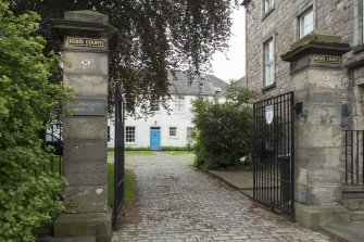 General view of Canongate Manse, Reid's Court, 95 Canongate, Edinburgh, from S.