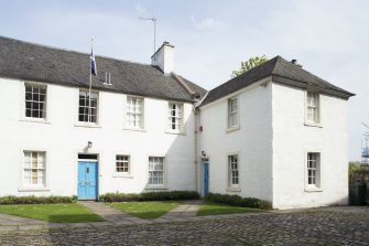 View of Canongate Manse, Reid's Court, 95 Canongate, Edinburgh,from SW.