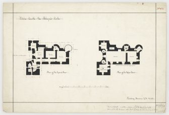 Plans gound and upper floors of Elcho Castle.