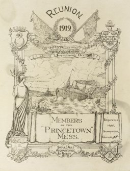 "Flyer for the reunion of members of the ""Princetown"" Mess."