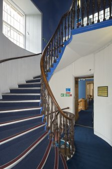 1st floor. Staircase from south west.