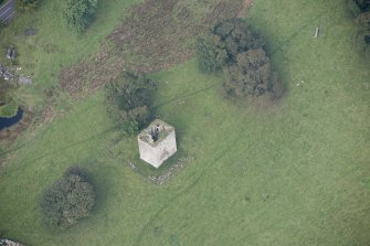 Oblique aerial view of Barr Castle, looking NNW.