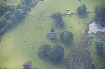 Oblique aerial view of Barr Castle, looking S.