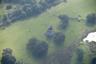 Oblique aerial view of Barr Castle, looking SSE.
