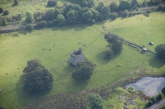 Oblique aerial view of Barr Castle, looking SE.
