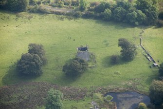 Oblique aerial view of Barr Castle, looking ESE.