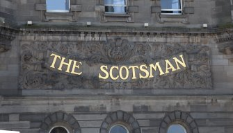 Detail of 'Scotsman' sign