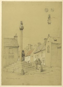 Drawing of Doune Market Cross