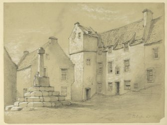 Drawing of Culross Market Cross.