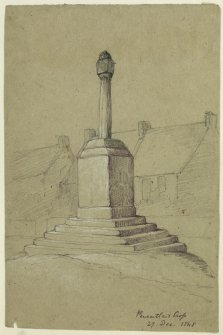 Drawing of Pencaitland Market Cross.
