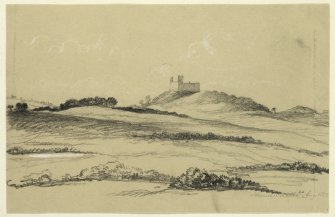 Drawing of Hume Castle.
