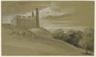 Drawing of Hume Castle