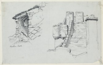 Drawing of roof at Ruthven Castle.