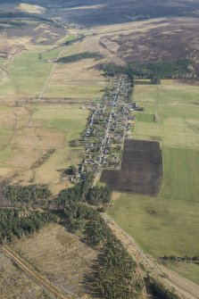 Oblique aerial view of Tomintoul, looking SE.