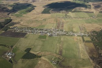 Oblique aerial view of Tomintoul, looking NE.