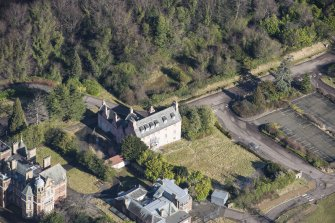 Oblique aerial view of Old Craig House, looking NNE.